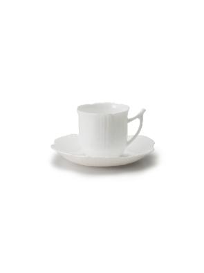 矢量白色碟子和茶杯
